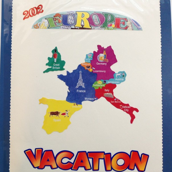 Europe Vacation Title Page