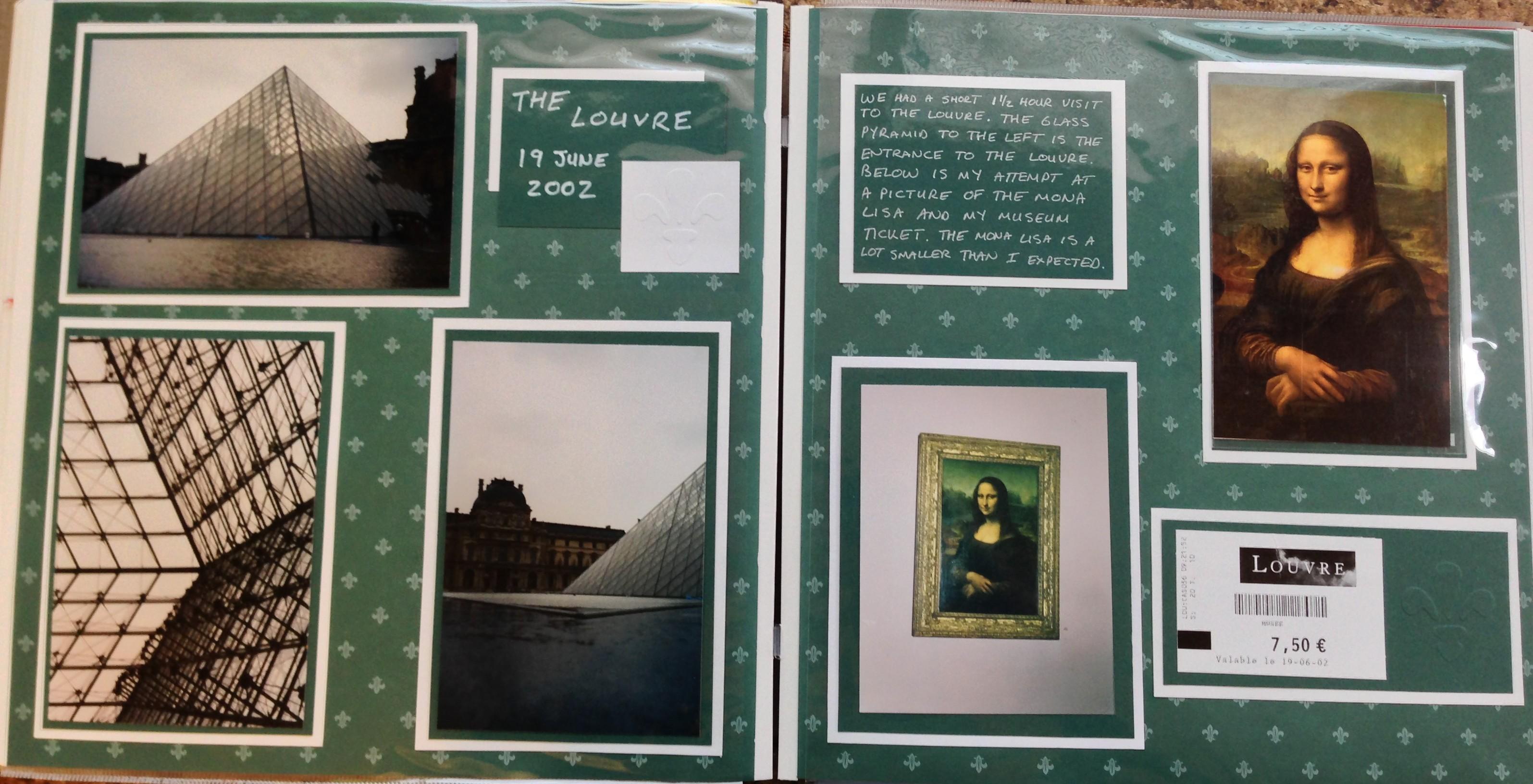 Europe scrapbook ideas - Europe Vacation Louvre