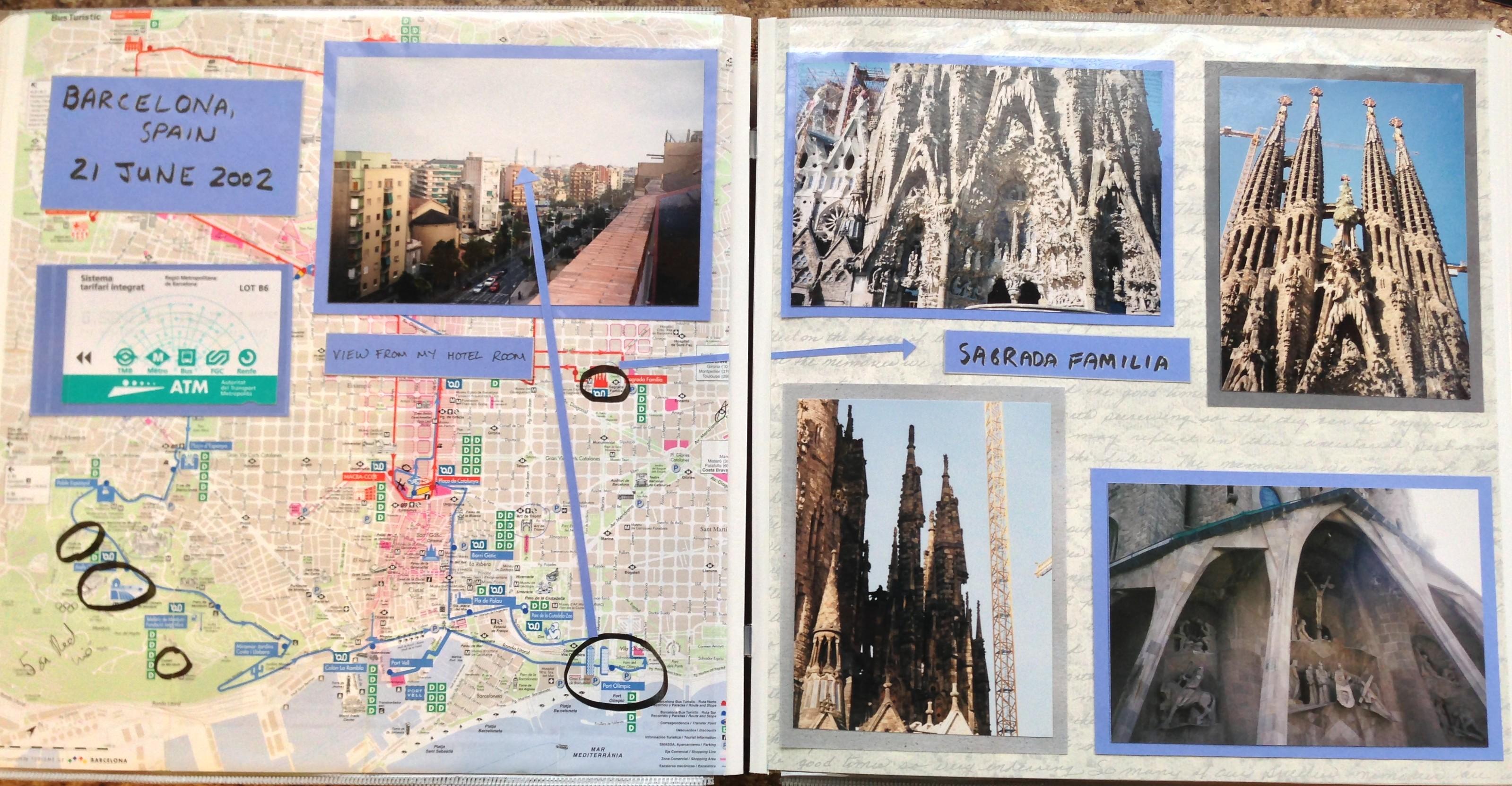 Europe scrapbook ideas - Europe Vacation Barcelona Spain