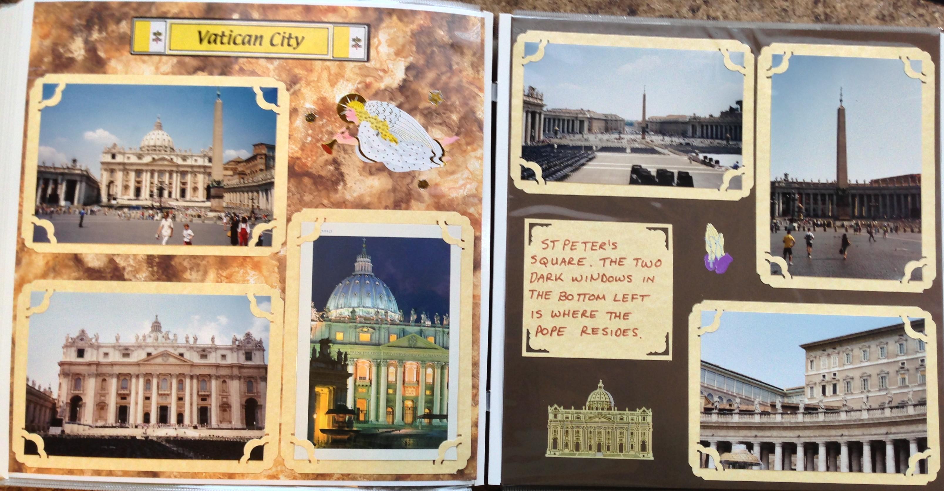 Europe scrapbook ideas - Europe Vacation Vatican City