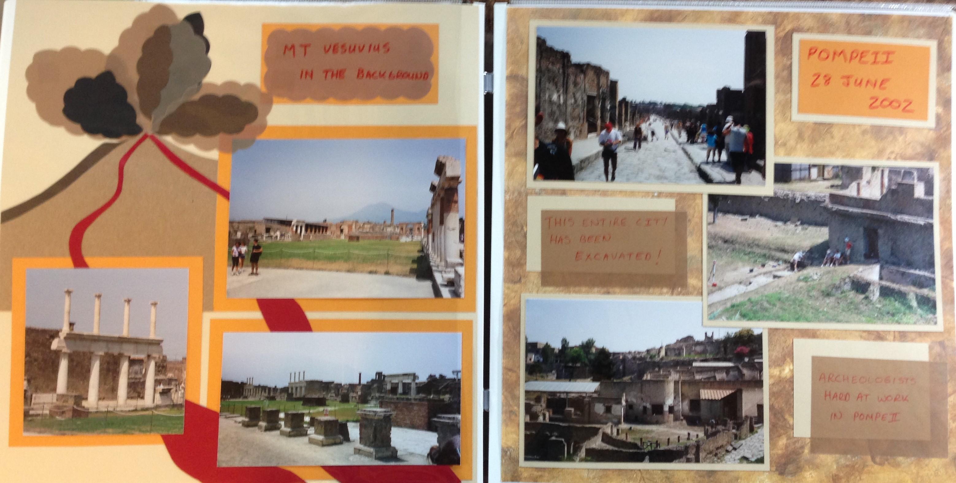 Europe scrapbook ideas - Europe Trip Pompeii Italy