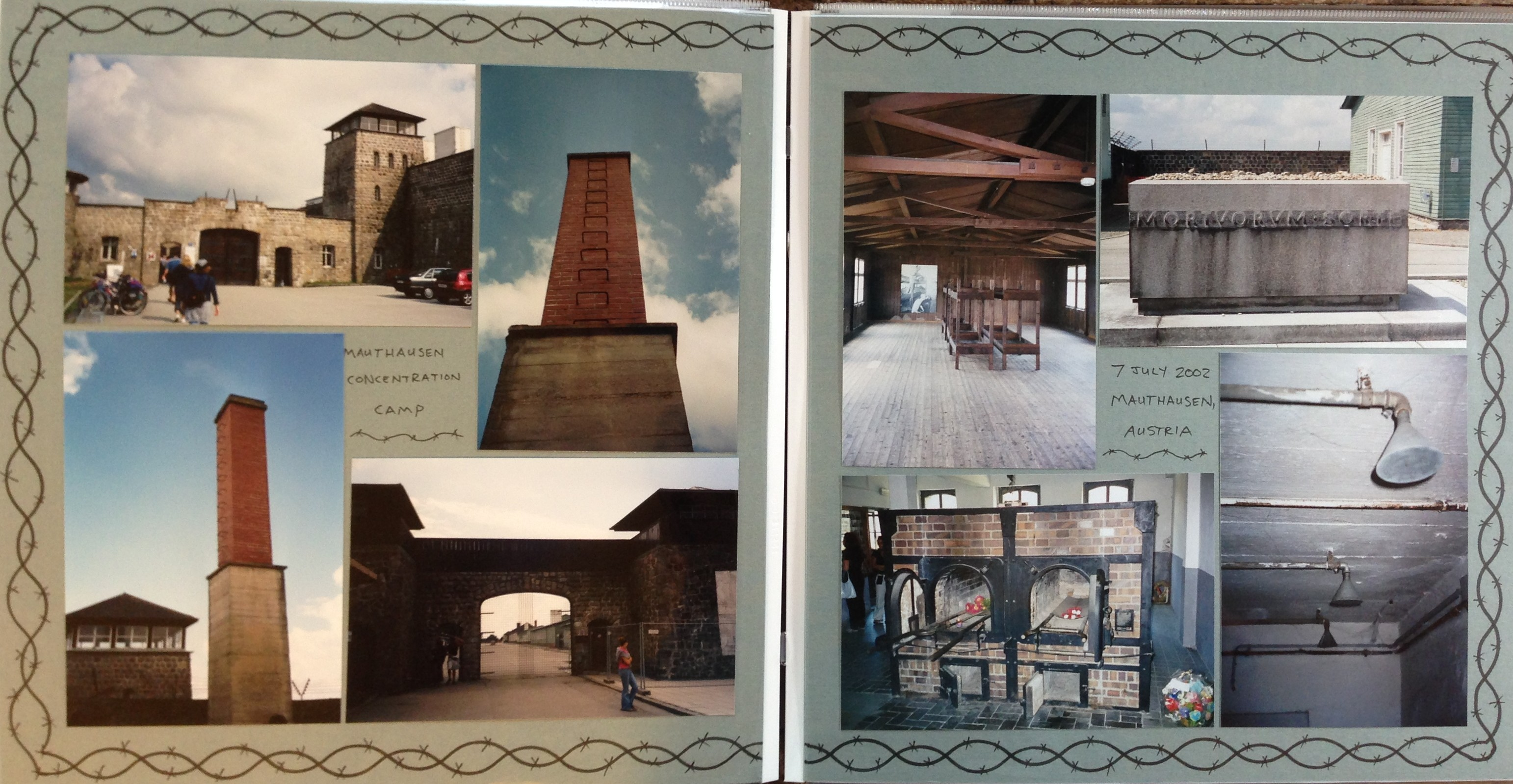 Europe scrapbook ideas - Europe Vacation Mauthausen Concentration Camp Austria