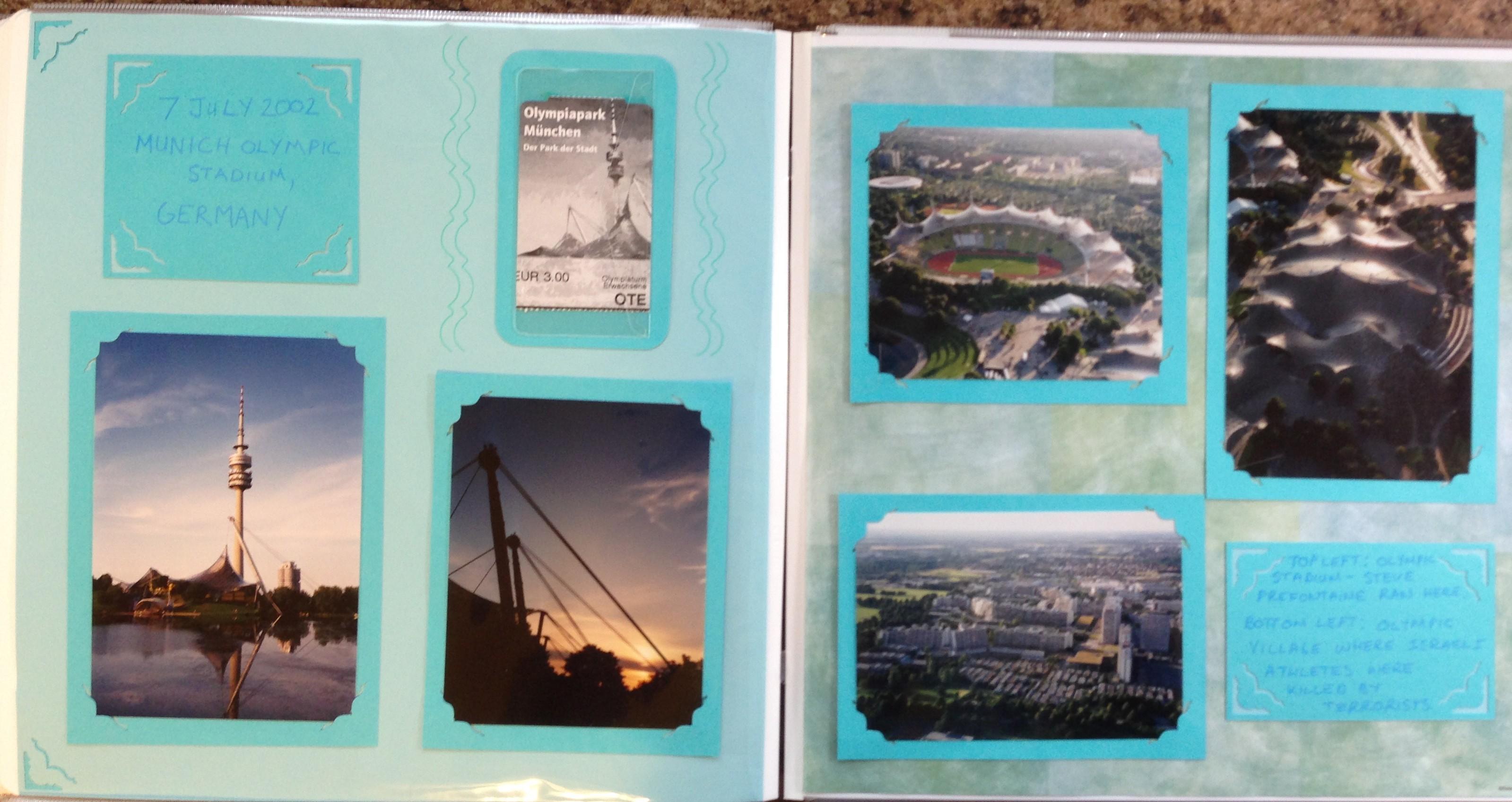 Europe scrapbook ideas - Europe Vacation Munich Germany Olympic Stadium