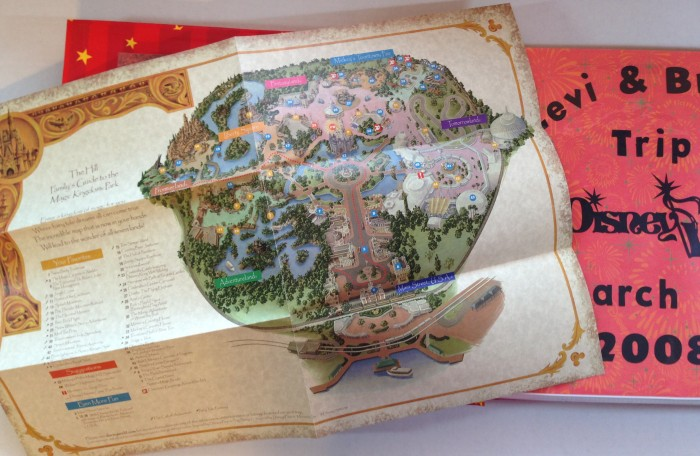 Disney Vacation 2008: Title Page - Disney Maps - Open