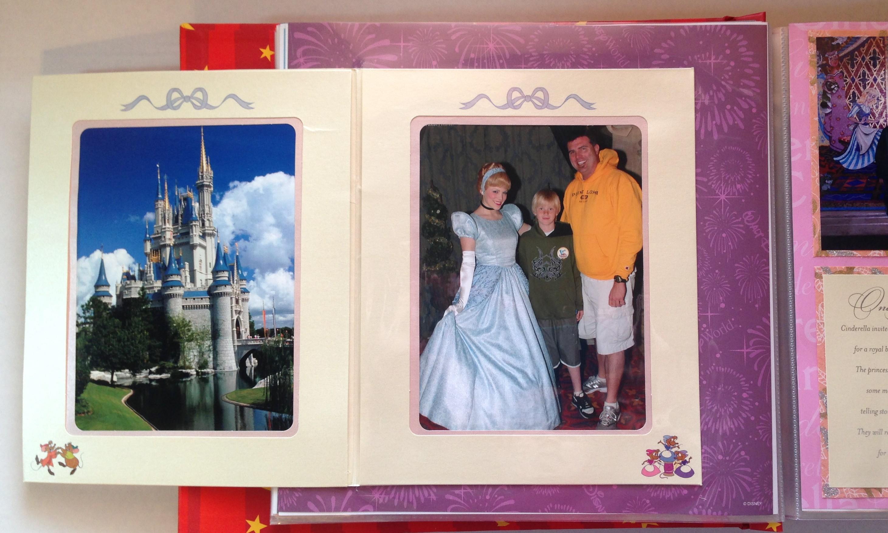 How to scrapbook disney vacation - Disney Vacation 2008 Magic Kingdom Cinderella S Royal Table 2