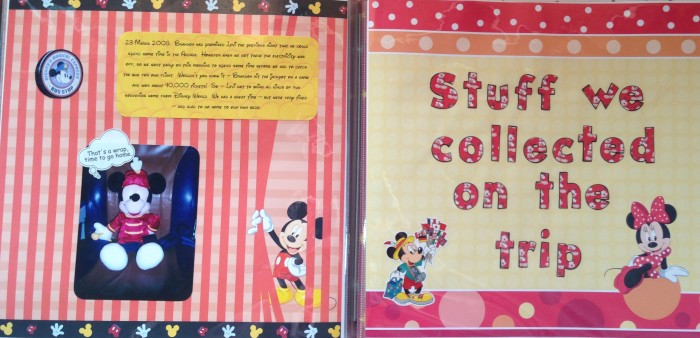 Disney Vacation 2008 - Funny Story and Ephemera