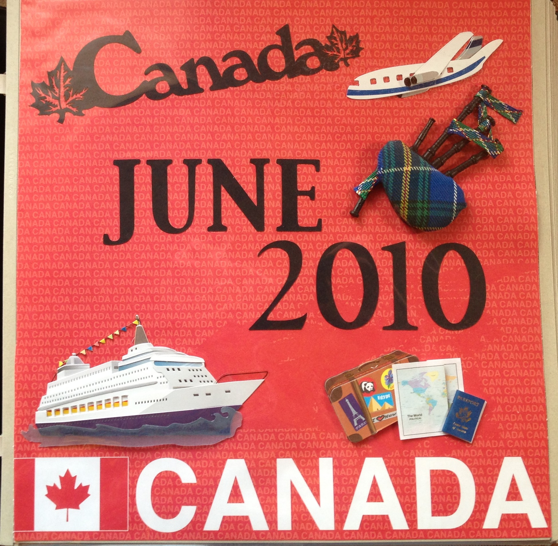 Canada Cruise 2010 Title Page Mascrapping