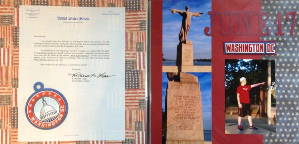 Washington DC 2012: Senator Letter and Titanic Memorial