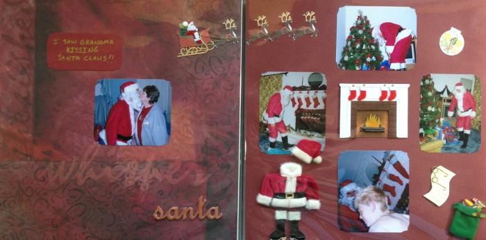 2007: Grandma kissing Santa Claus