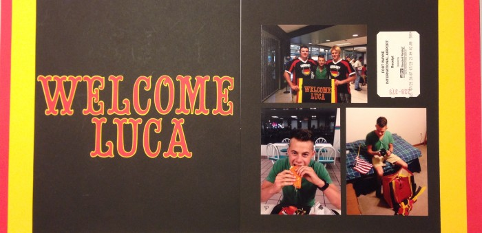 Exchange Student: Welcome Luca