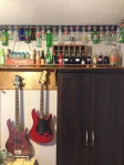 Teen Boy Room: bottle collection, copper, border, coke, guitars, industrial