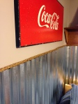 Teen Boy Room: industrial, rope border, corrugated steel wainscoting, coke sign