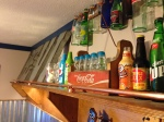 Teen Boy Room: industrial, copper railing, bottles