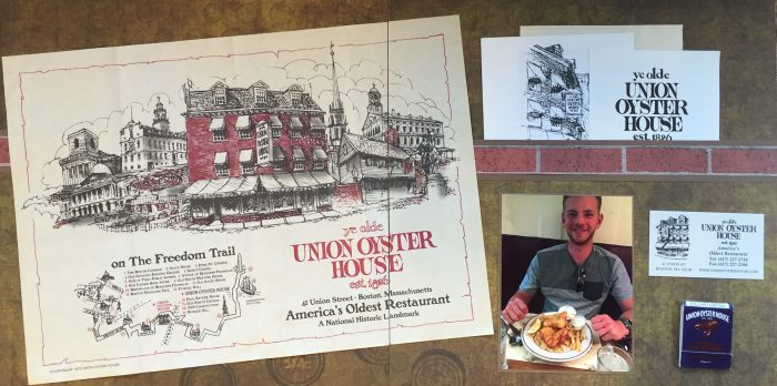 2016: Boston - Freedom Trail - Ye Olde Union Oyster House