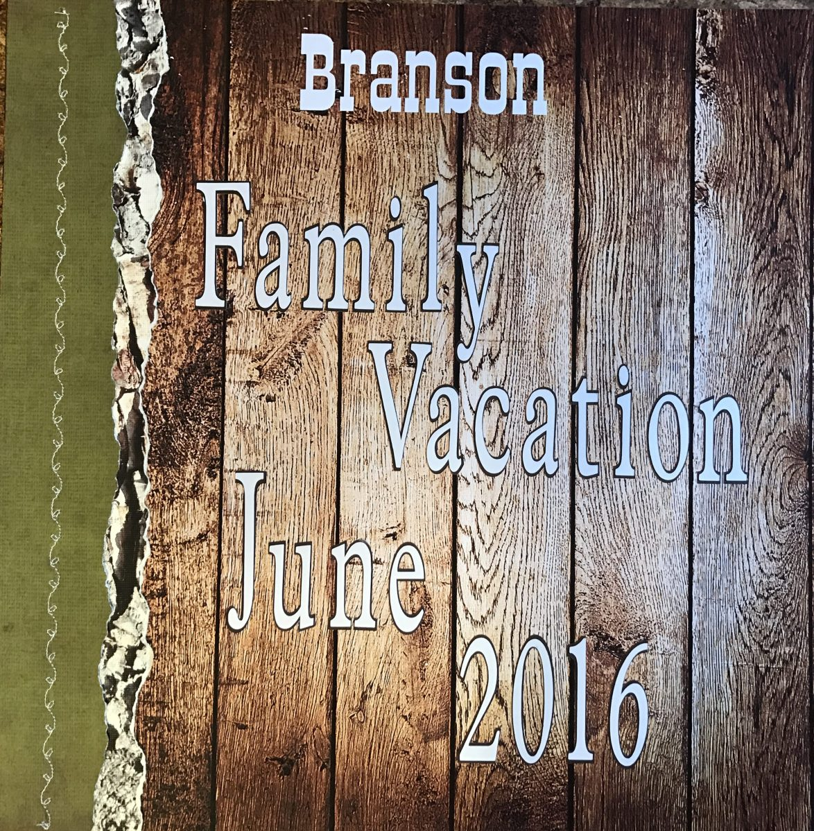 2016: Branson Vacation - Title Page