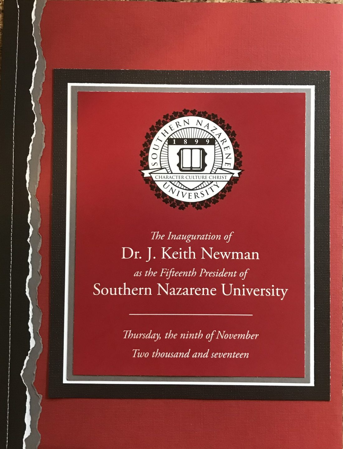 2017: Dr Keith Newman Inauguration 1