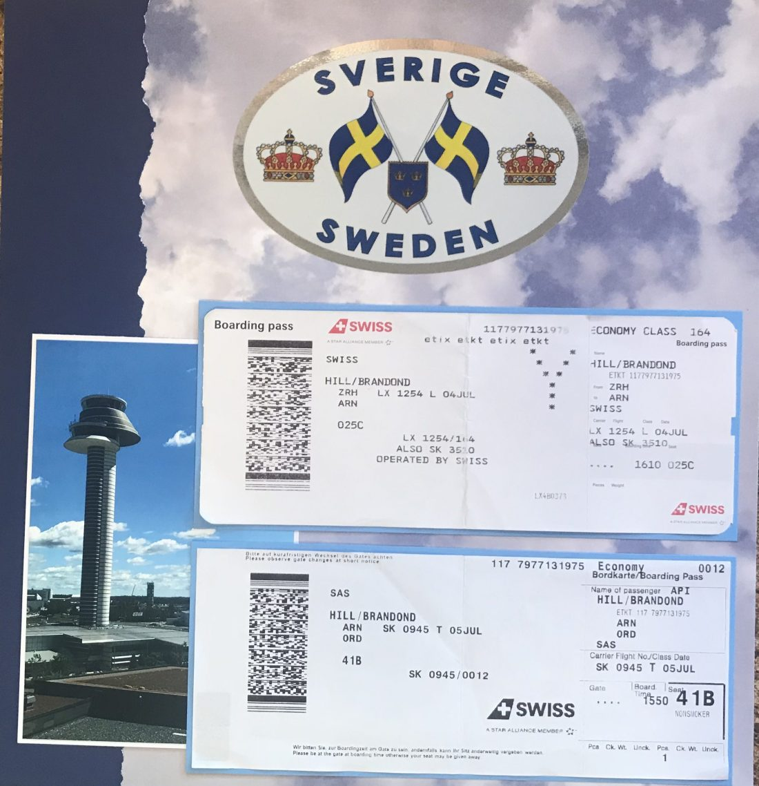 Germany 2017: Flight home through Stockholm