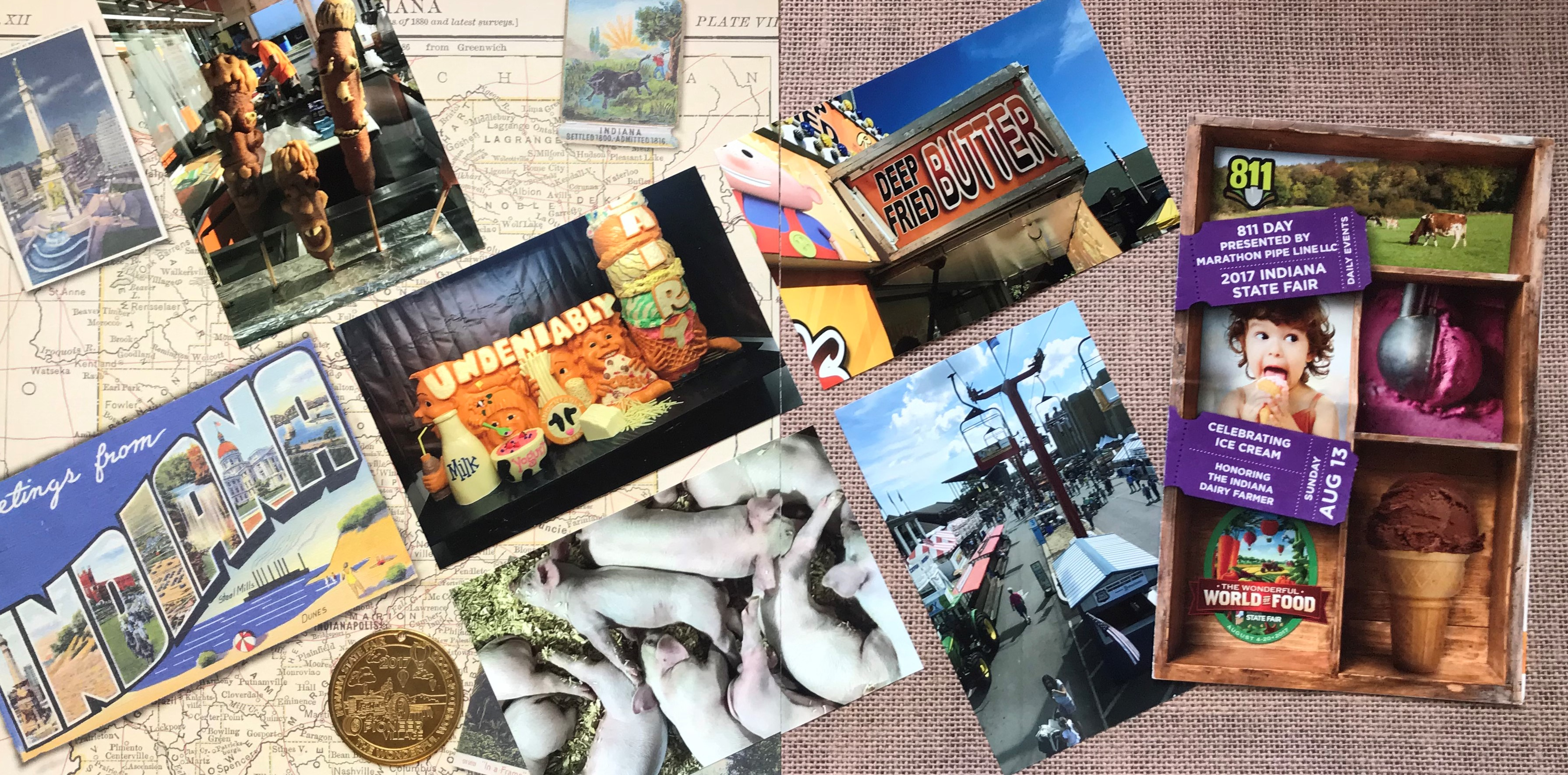 STATE FAIR Printed Premade Scrapbook Pages