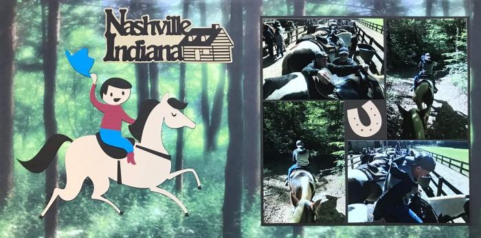 2018: Horseback riding in Nashville Indiana